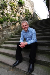 Colin Beveridge on steps - photo: Haydn Wheeler